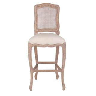 Antioch Antique Off-White Barstool