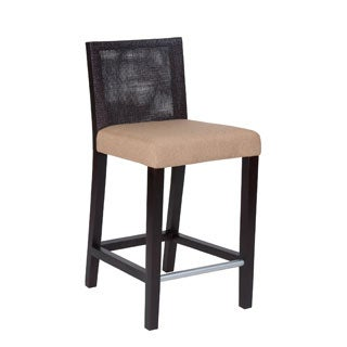 Downey Casual Brown Textured Barstool