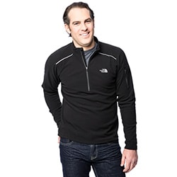 The North Face Men's Black TKA 80 1/4 Zip Pullover
