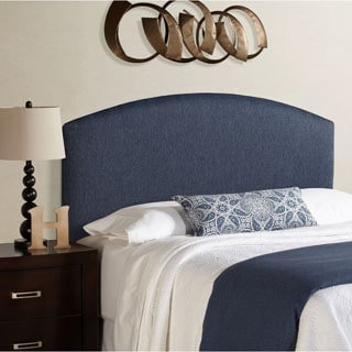 Humble + Haute Parker Queen Size Navy Blue Curved Upholstered Headboard