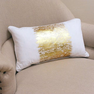 Metallic Banded Design Pillow