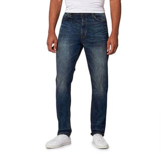 JNCO Men's Woozy Stainer Wash Comfort Fit Jeans