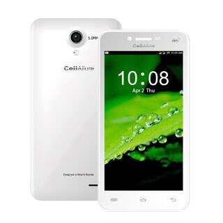 CellAllure Value 4.5 IPS/ Dual SIM/ 4G HPSD+/ 4.5-inch Screen/ White Factory Unlocked Android Smartphone