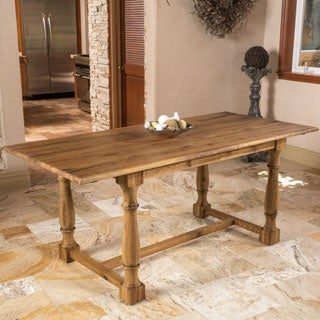 Christopher Knight Home Wally Oak Wood Rectangle Dining Table (ONLY)