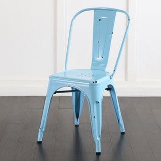 Metal Cafe Chair - Azure Blue