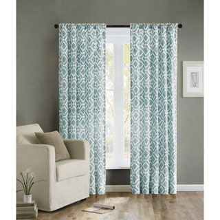 OVERSTOCK EXCLUSIVE Madison Park Ella 4-PIECE Curtain Panel Pair and Tiebacks