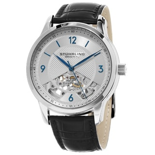 Stuhrling Original Men's Mechanical Legacy Skeleton Leather Strap Watch