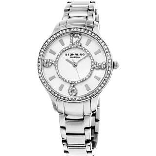 Stuhrling Original Women's Quartz Stainless Steel Swarovski Crystal Watch