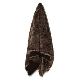 Eddie Bauer Lodge Reversible Fur Throw