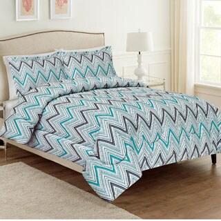 Ellen Tracy Cole Chevron 3-piece Comforter Set