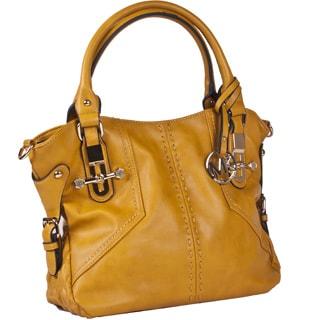 Michael Michelle 'Sylma' Vegan Leather Shoulder Handbag