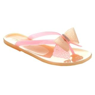 Bella Marie Women's 'Jolin-2' Sweet Jelly T-Strap Flat Flip Flop Sandal