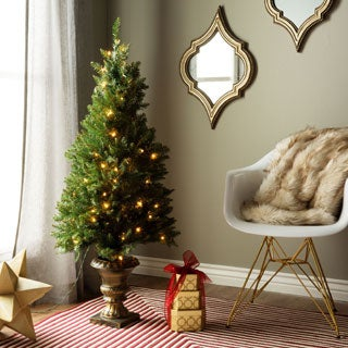 4' Artificial Christmas Porch Tree for Indoor/Outdoor Use
