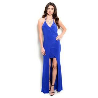 Shop the Trends Women's Halter Bodycon Maxi Dress
