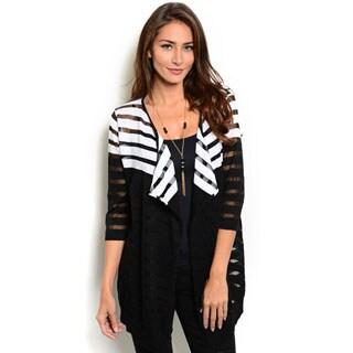 Shop the Trends Women's 3/4-Length Sleeve Lightweight Cardigan