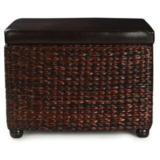 Adeco Bulrush Weave Storage Ottoman