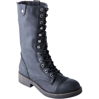 Madden Girl Women's Motorrr Black Moto/ Combat Boot