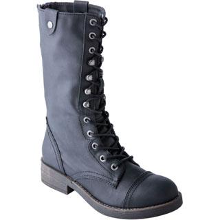 Madden Girl Women's Motorrr Black Combat Boot