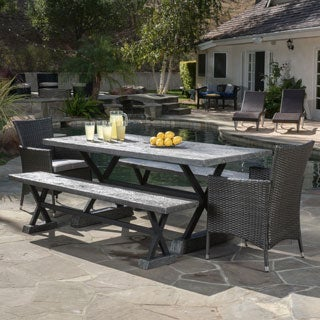 Christopher Knight Home Numana Outdoor 5-piece Picnic Dining Set