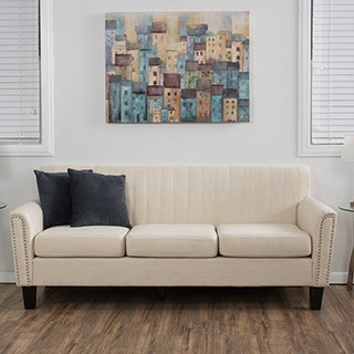Christopher Knight Home Brookfield Three-Seat Fabric Sofa