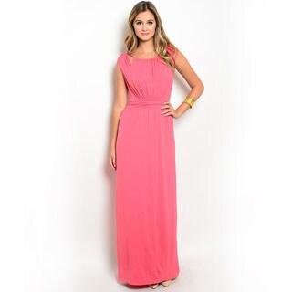 Shop the Trends Women's Sleeveless Cutout Shoulder Empire Waist Gown