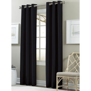 Textured Black Out Curtains (Set of 2)