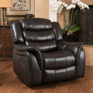 Christopher Knight Home Hawthorne PU Leather Glider Recliner Club Chair