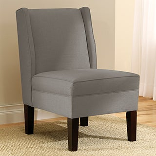 Skyline Furniture Linen Grey Wingback Chair