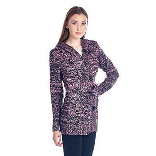 Women's Cozy Hooded Cotton Blend Sweater