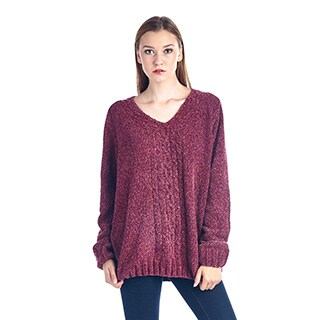 Women's Cotton Blend Pullover Sweater