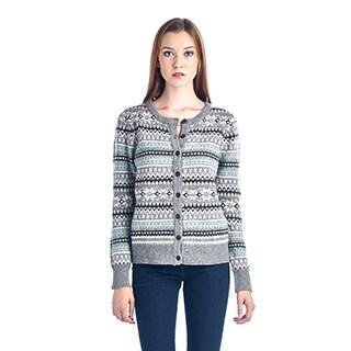 Women's Grey Fairisle Sweater
