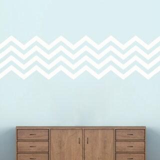 Chevron Stripes' 62 x 17-inch Wall Decals