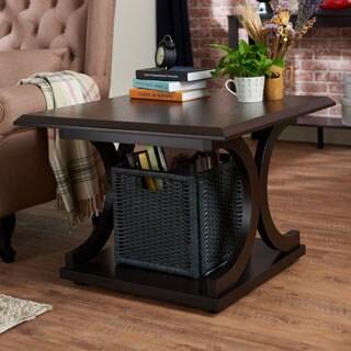 Furniture of America Cairi Square Cappuccino End Table