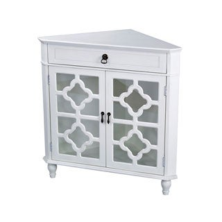 Heather Ann Heirloom Style One (1) Drawer Corner Accent Cabinet