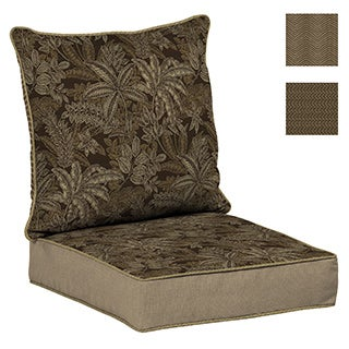 Bombay Outdoors Palmetto Espresso Reversible Deep Seat Cushion Set