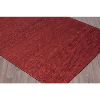 "Woven Natural Jute Rugs Red (5'x7 1/2"")"