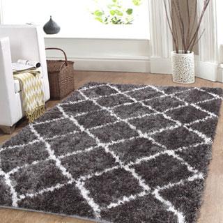 Affinity Home Trellis Cozy Shag Rug (3' x 5')