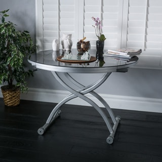 Christopher Knight Home Shelby Glass Top Folding Table with Drop Leaf