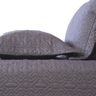 Cedric Grey 3-piece Quilt Set
