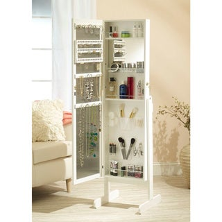 Mirrotek Everything Jewelry and Makeup organizational Armoire with Stand