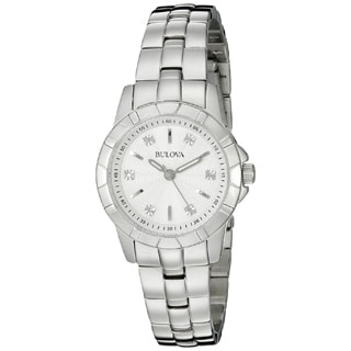 Bulova Women's 96P121 'Classic' Diamond Stainless Steel Watch
