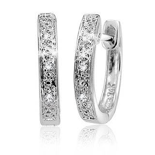 10k Gold Diamond Accent Endless Hoop Earrings (G-H, SI2-I1)