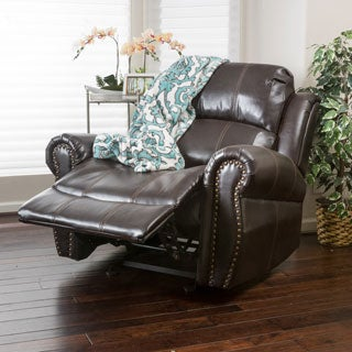 Christopher Knight Home Charlie PU Leather Glider Recliner Club Chair