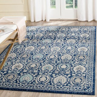 Safavieh Evoke Royal Blue and Ivory Rug (8' x 10')