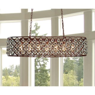 Shekinah 6-light Rusty 40-inch Edison Chandelier with Bulbs