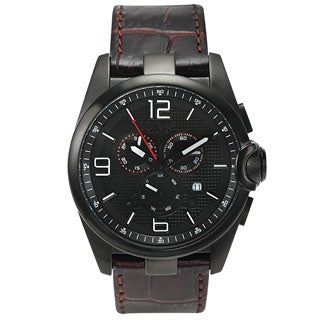 Balmer Veyron Swiss Made Quartz Men's Chronograph Watch 22 MM Genuine Leather Strap