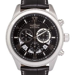 Men's Balmer E-Type Racing-style Swiss Chronograph Milled Bezel Watch
