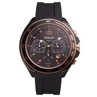 Force One Grand Prix Chronograph Men's Watch Quartz 20 mm Flexible Silicone Strap