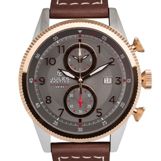 Jules Breting Adama Rose Goldtone Stainless Steel Men's Swiss Chronograph Watch