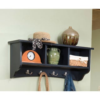 Everett Espresso 60 Inch Wide Hanging Entryway Shelf